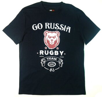 Футболка HardSign  Go Russia Rugby Team - Темно Синяя - 066.