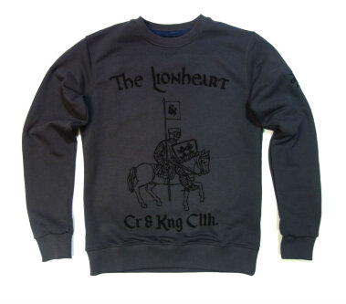 Свитшот Cr&Kng Clothing The Lionheart т.серая.